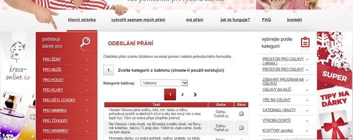 menu Darky-Trefne.cz